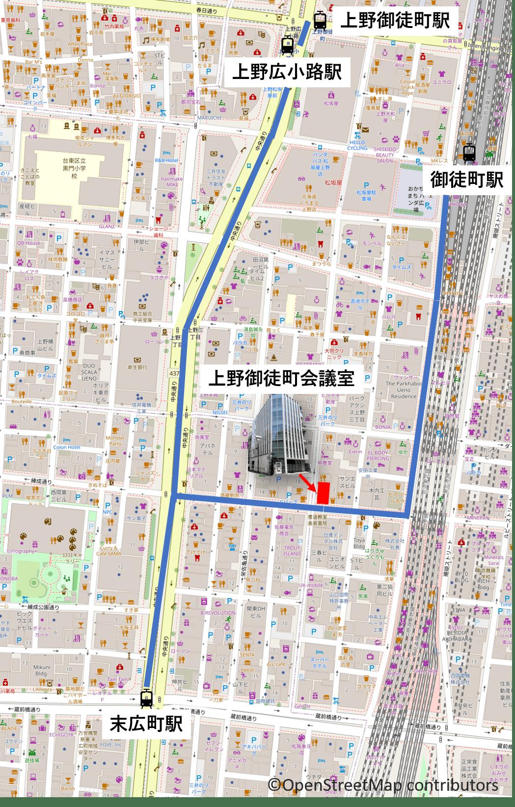 BMT上野御徒町会議室 案内 マップ